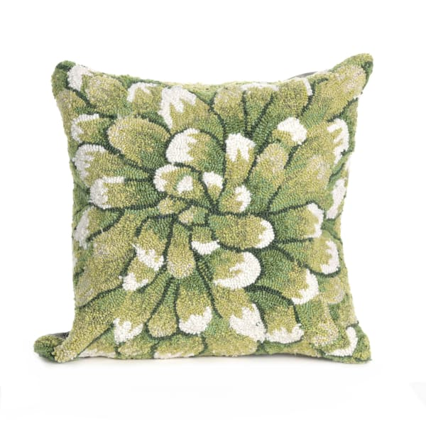 Mum Green Outdoor Pillow