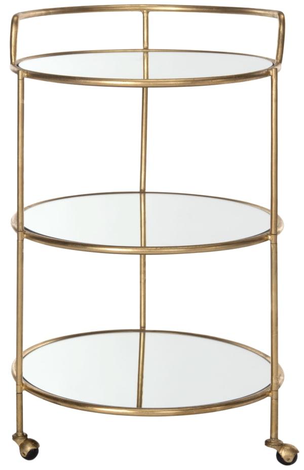 Marguarita Gold Iron Bar Cart