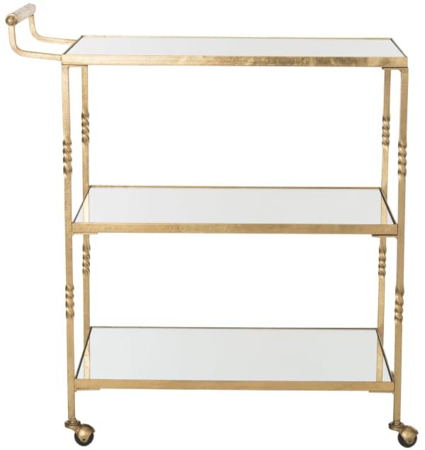 Octavia Gold Iron Bar Cart