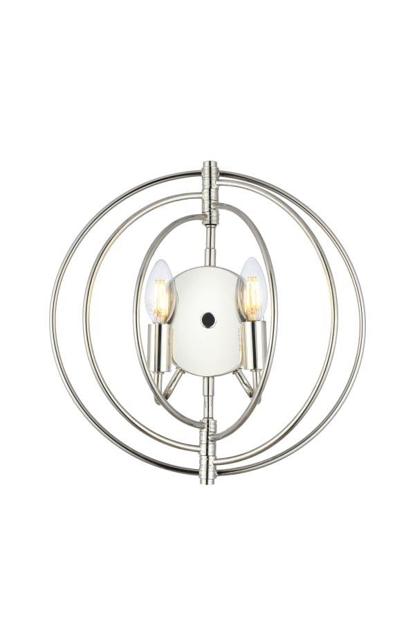 Polished Nickel Wall Sconce
