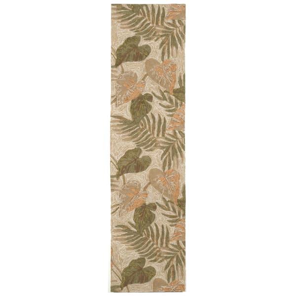 Natural Tropical Leaf Runner 2.5' x 9'