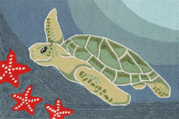 Sea Turtle Blue 2' x 3' Rug