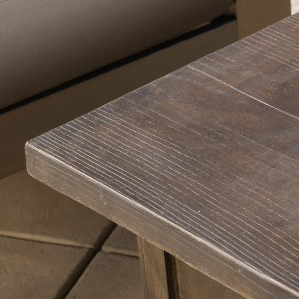 Khaki Aluminium Set & Anchorage Brown Fire Table