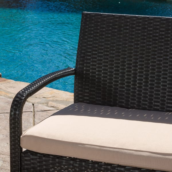 Brown Rattan 4-Piece Set