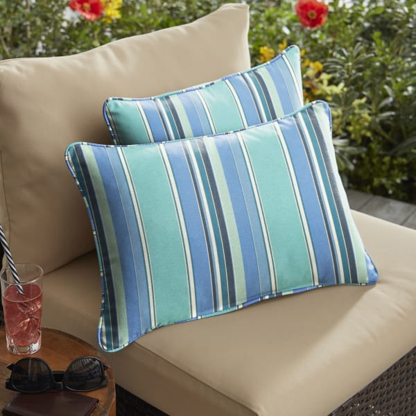 Sunbrella Corded in Dolce Oasis Set of 2  Outdoor Pillow