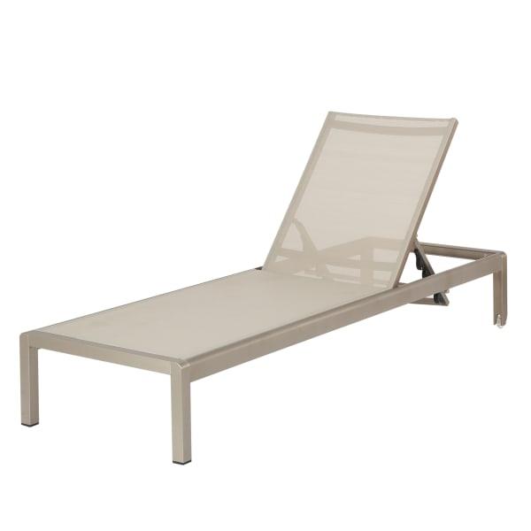 Keaton Gray Outdoor Mesh Chaise Lounge