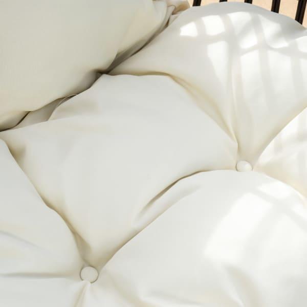 Teardrop Wicker Lounge Chair with Cushion