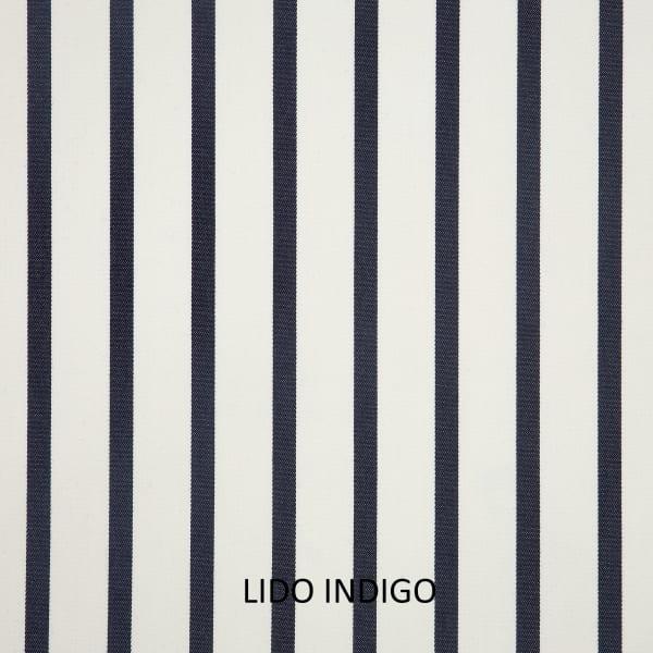 Sunbrella Knife Edge Set of 2 in Lido Indigo Outdoor Pillow