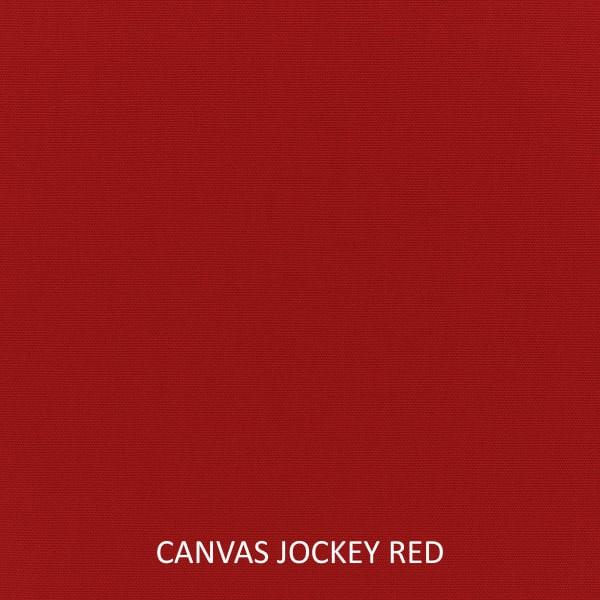 Sunbrella Knife Edge Set of 2 in Canvas Jockey Red Outdoor Pillow