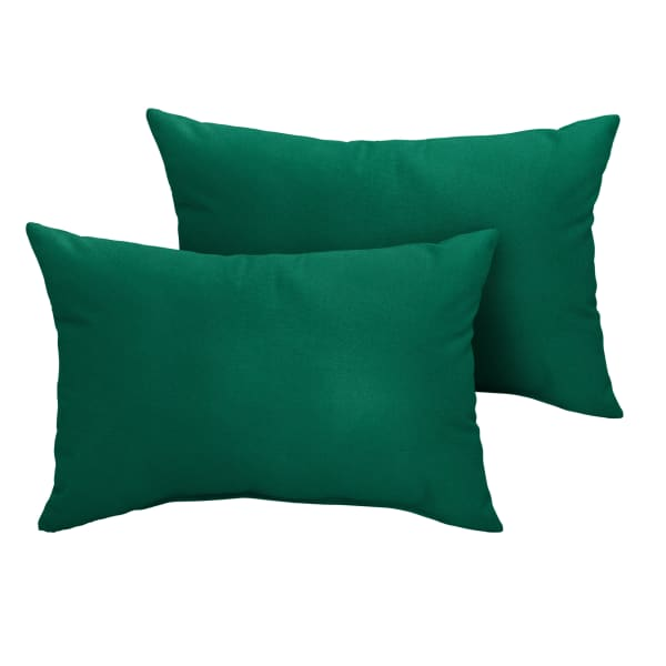 Sunbrella Knife Edge Set of 2 in Canvas Forest Green Outdoor Pillow