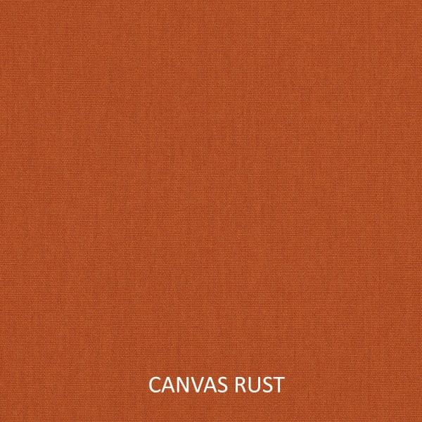 Sunbrella Knife Edge Set of 2 in Canvas Rust Outdoor Pillow