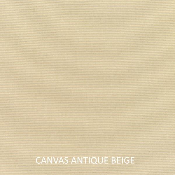Sunbrella Knife Edge Set of 2 in Canvas Antique Beige Outdoor Pillow