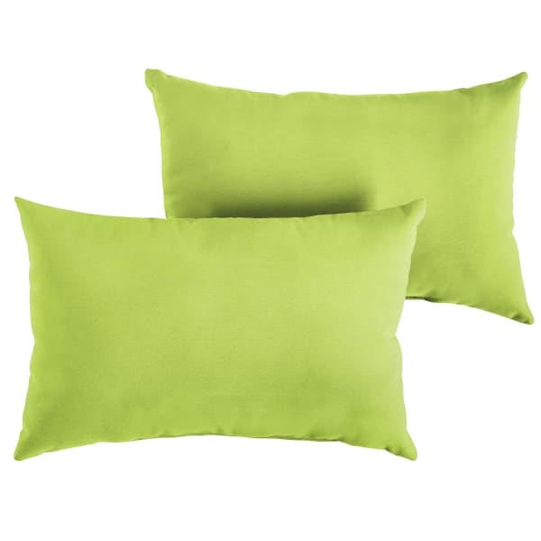 Sunbrella Knife Edge Set of 2 in Canvas Macaw Outdoor Pillow