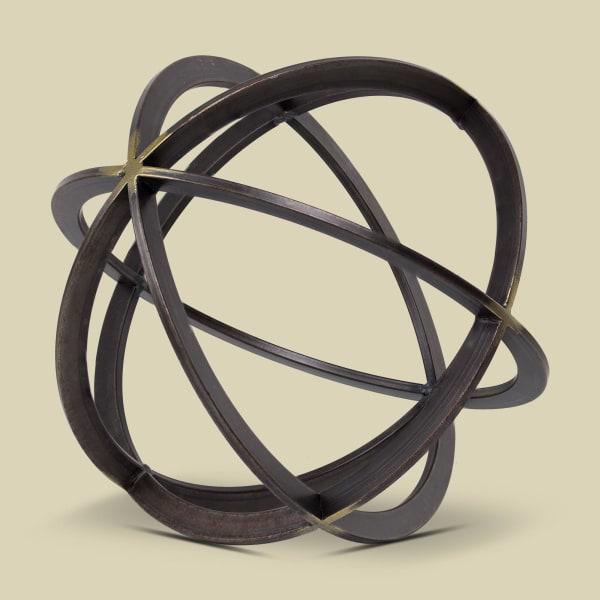 Large Metal Orb Dyson Sphere Sculpture Figurine