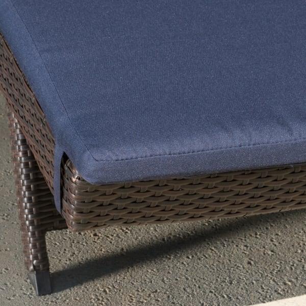 Brown Chaise Loung Cushions Set