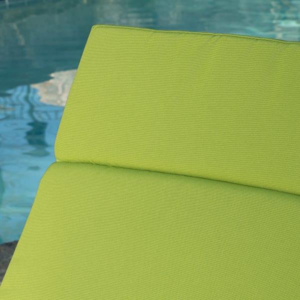 Gray Chaise Lounge & Green Cushion