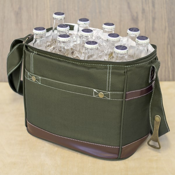 Cathy's Concepts Green Craft Beer 12-Pack Bottle Cooler