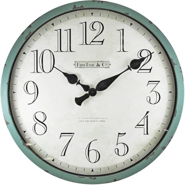 Bellamy Aged Teal Wall Clock