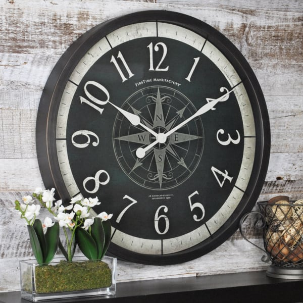 Compass Rose Oil Rubbed Bronze Wall Clock Pier 1