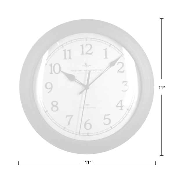 Slim Bronze Wall Clock