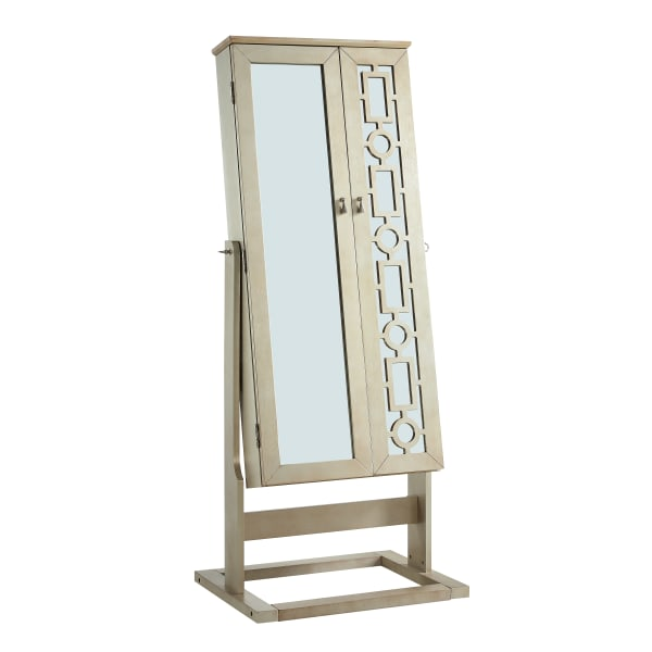 Mirror Shimmer Cheval Jewelry Armoire
