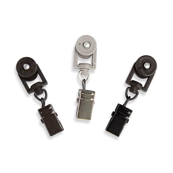 10-Piece Traverse Rod Sliders in Pewter