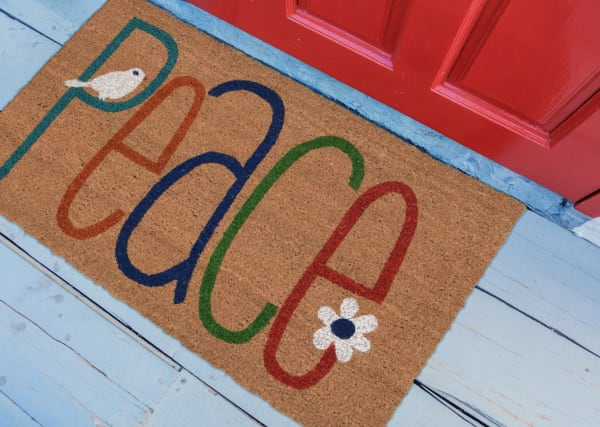 Peace Natural 2' x 3' Doormat