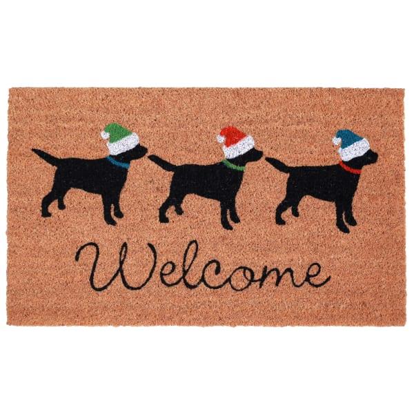 Three Dogs Welcome 2' x 3' Doormat