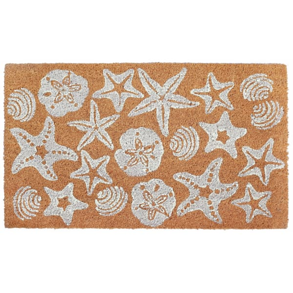 Shells White Doormat 18