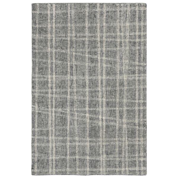 Plaid Gray Rug 8'25