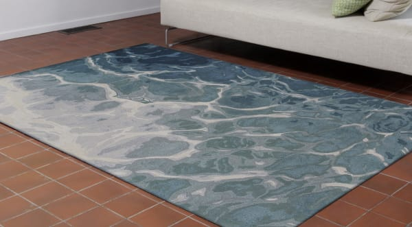 Corsica Water Blue Rug 5' x 7'5