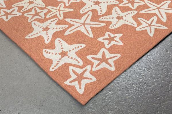 Starfish Orange Rug 1'75
