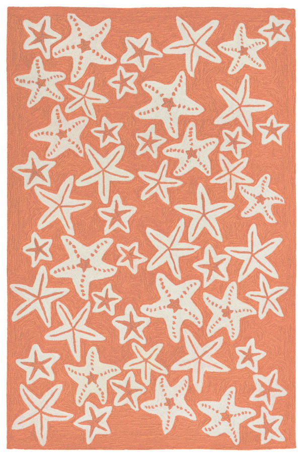 Starfish Orange Rug 3'5