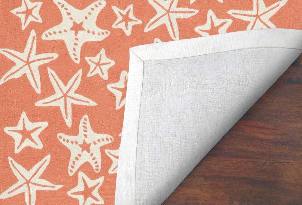 Starfish Orange Rug 7'5