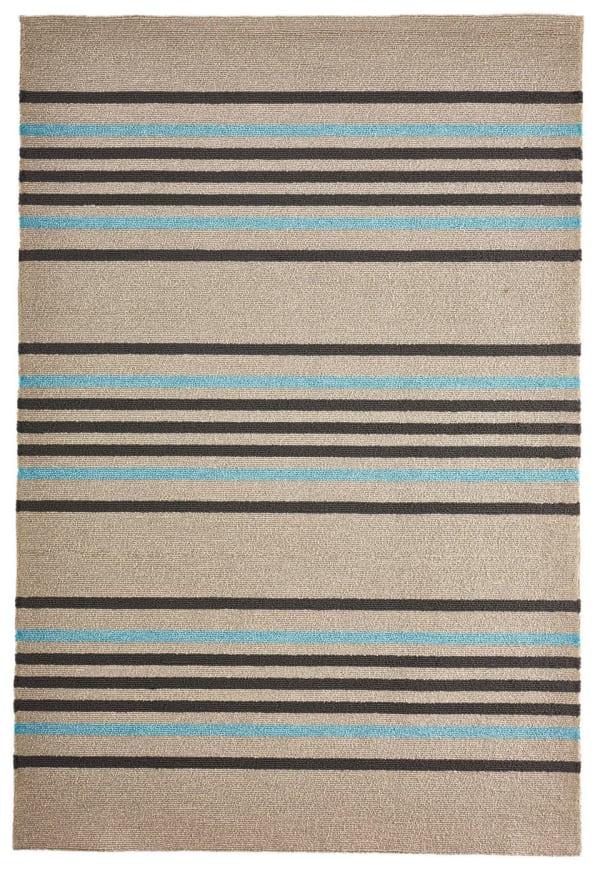 Brown & Blue Striped Rug 7'5