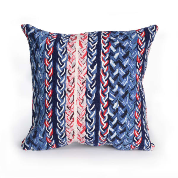 Braided Stripe in Navy Polyester Pillow