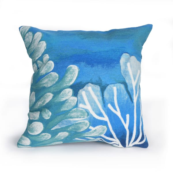 Reef in Blue Polyester Pillow