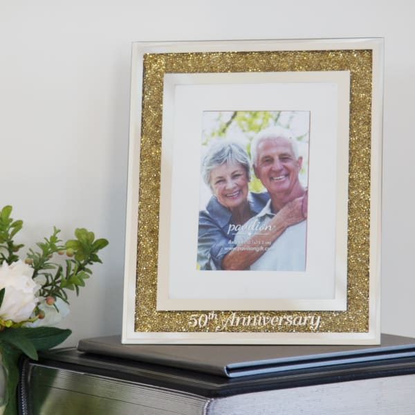50th Anniversary 4x6 Photo Frame