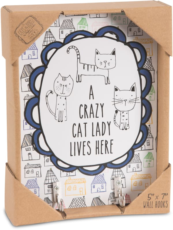 Crazy Cat Lady Wall Hooks