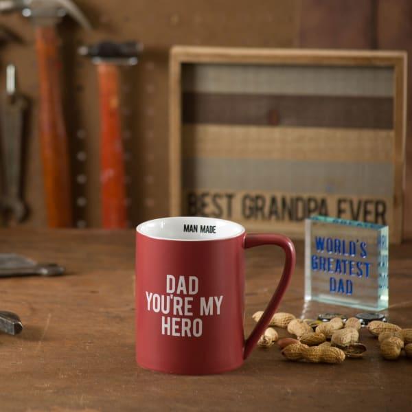 Dad You're My Hero Mug
