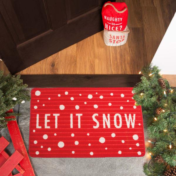 Let it Snow Floor Mat