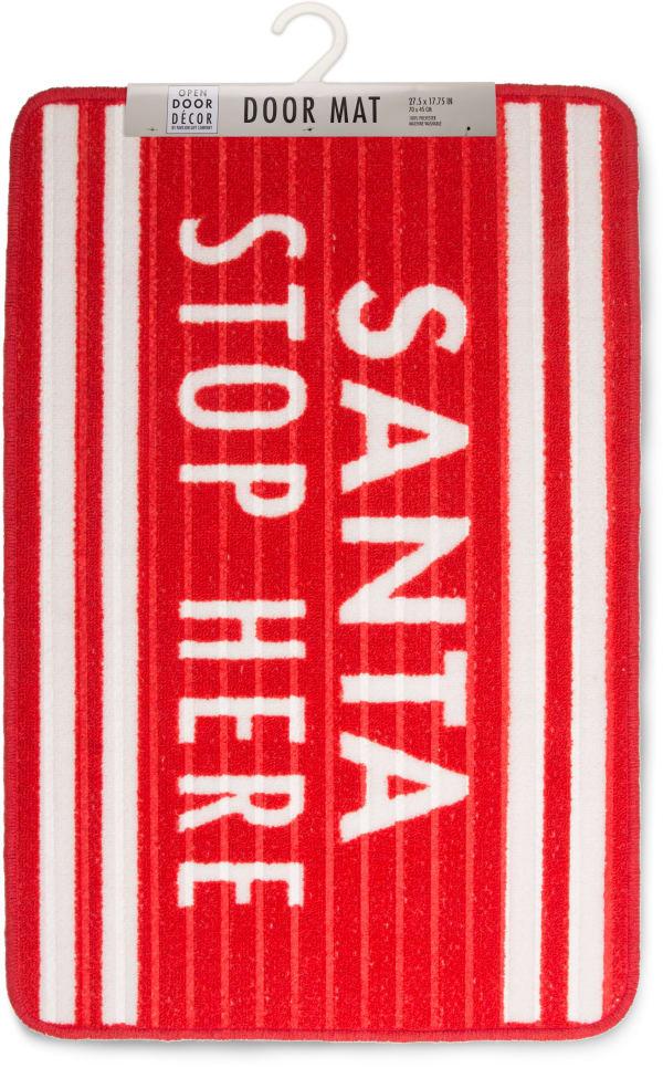 Santa Stop Here Floor Mat