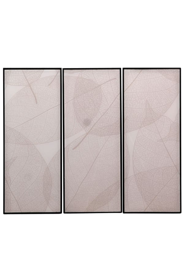 3-Piece Original Designer Patterns Reverse Printed on Glass Set