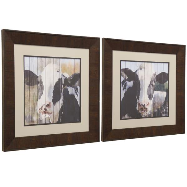 Cow Print Framed Wall Art 2-Piece Set