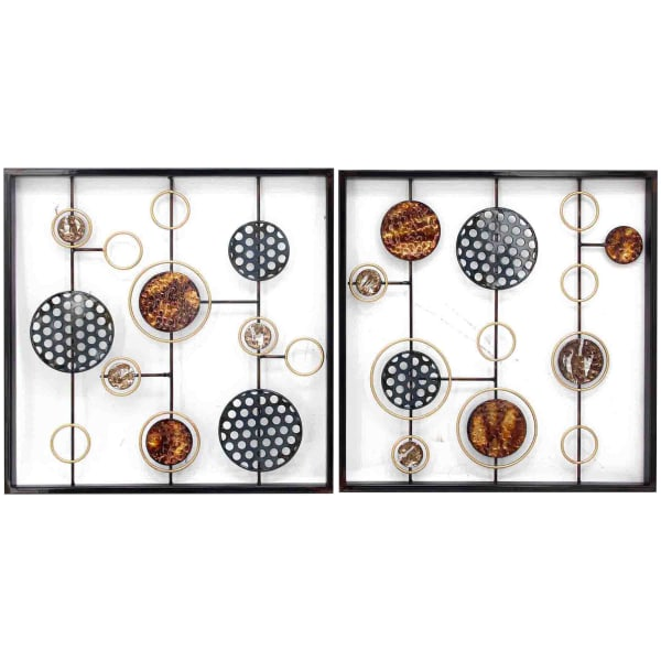 Cosmic Orientation Wall Sculpture 2-Piece Set