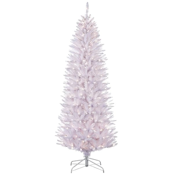 4.5' Pre-Lit White Pencil Fraser Fir Artificial Christmas Tree