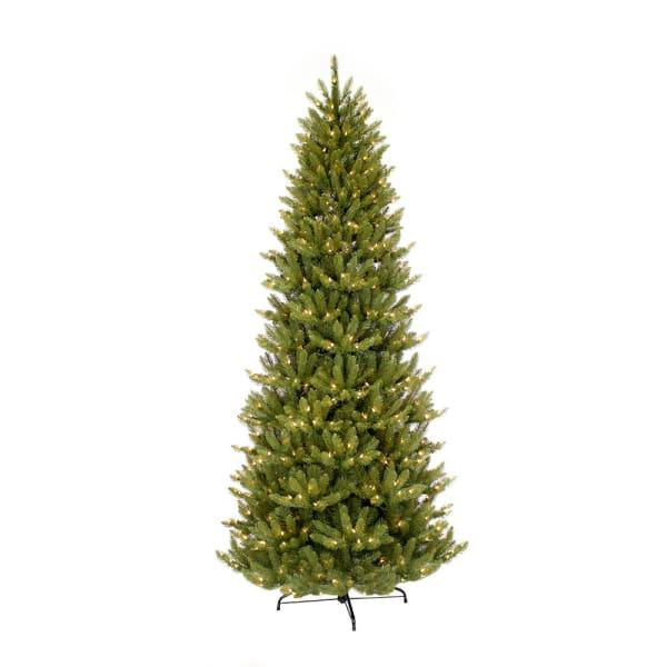 4.5' Pre-Lit Slim Fraser Fir Artificial Christmas Tree