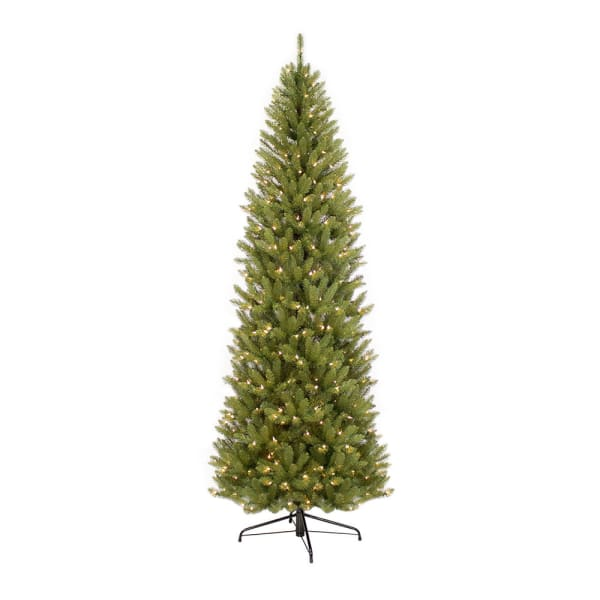 7.5' Pre-Lit Pencil  Fraser Fir Artificial Christmas Tree