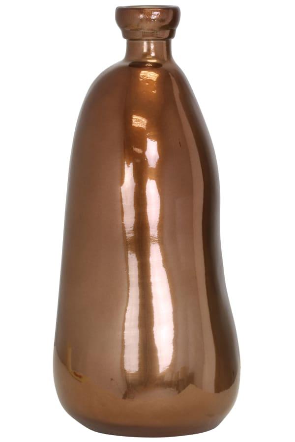 Hand Blown Bronze Glass Vase