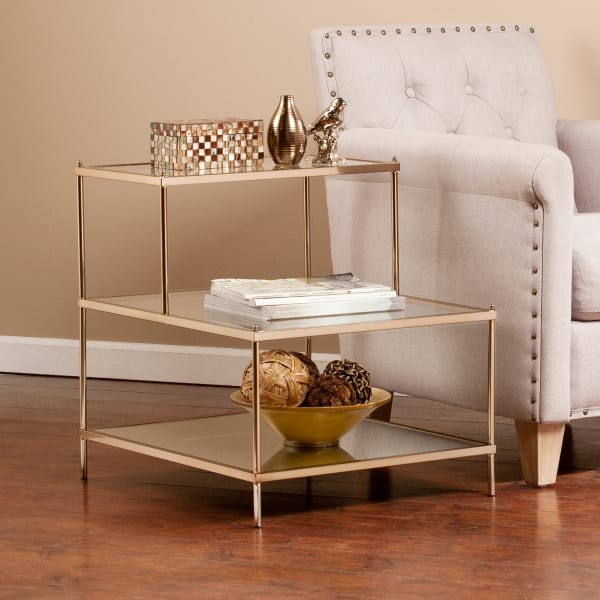 Warm Gold Accent Table